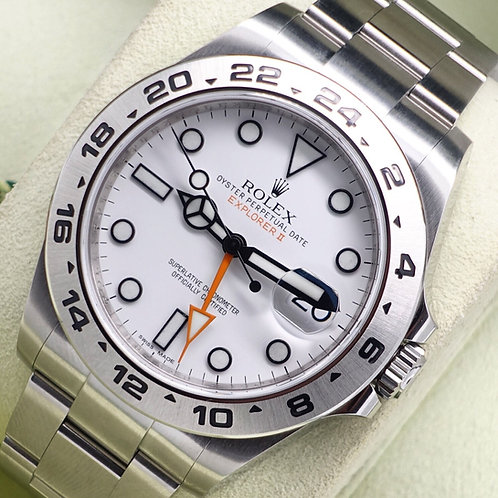 Gents Stainless Steel Rolex Oyster Perpetual Explorer II 216570 B & P 2012 Polar