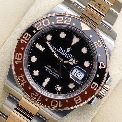 Unworn Gents Steel & 18ct Rose Gold Rolex Oyster Perpetual GMT-Master II