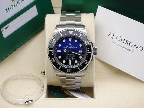 Unworn Rolex James Cameron Deepsea Seadweller 126660 D-Blue Dial 2019