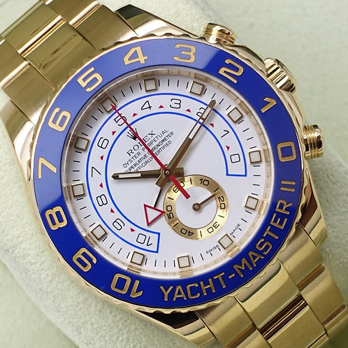 Gents 18ct Yellow Gold Rolex Yacht-Master II Box & Papers 2011 116688