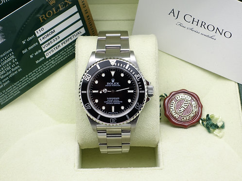 Gents Stainless Steel V serial Collectors Non Date Submariner 14060M 4 Liner