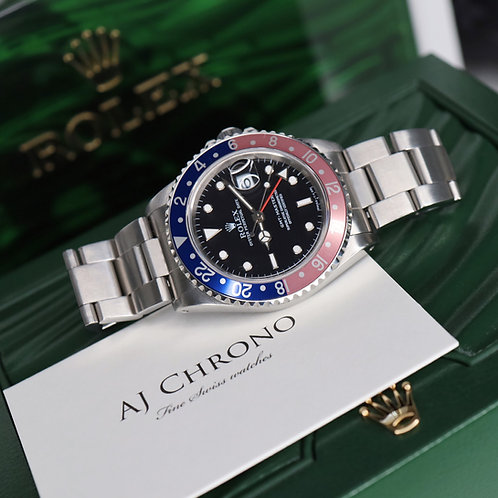 Gents Steel Pepsi Rolex Oyster Perpetual GMT-Master 16700 Beautiful Faded Bezel