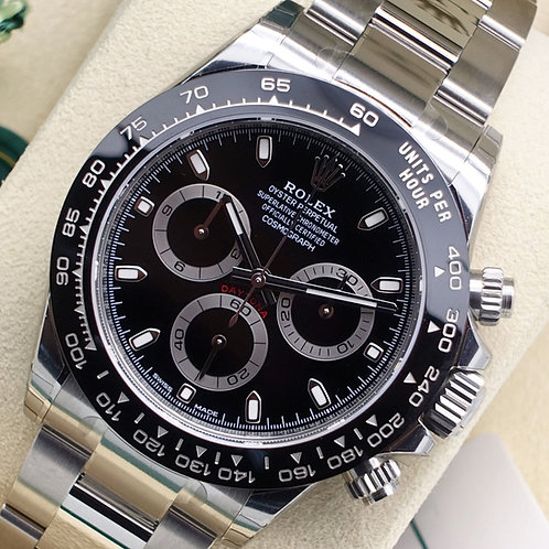 Factory Sealed Rolex Oyster Perpetual Daytona 116500LN Black 2018 UK Supplied