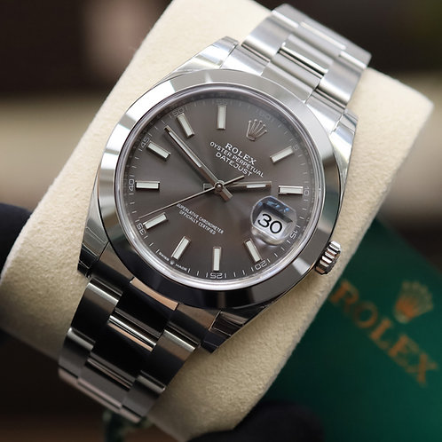 Sealed Gents Stainless Steel Rolex Oyster Perpetual Datejust 41 Rhodium  Dial