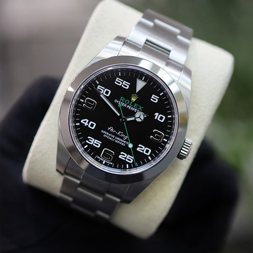 Unworn Gents Steel Rolex Oyster Perpetual Air-King 'Bloodhound' Box & Papers