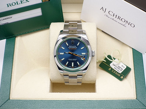 Gents Stainless Steel Rolex Milgauss Complete With Box & Papers Dated 2014