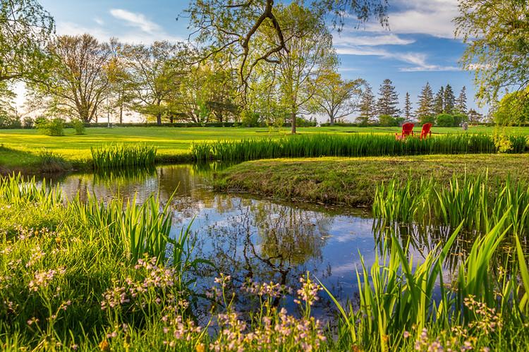 The gardens in Grand-Pre, Nova Scotia
