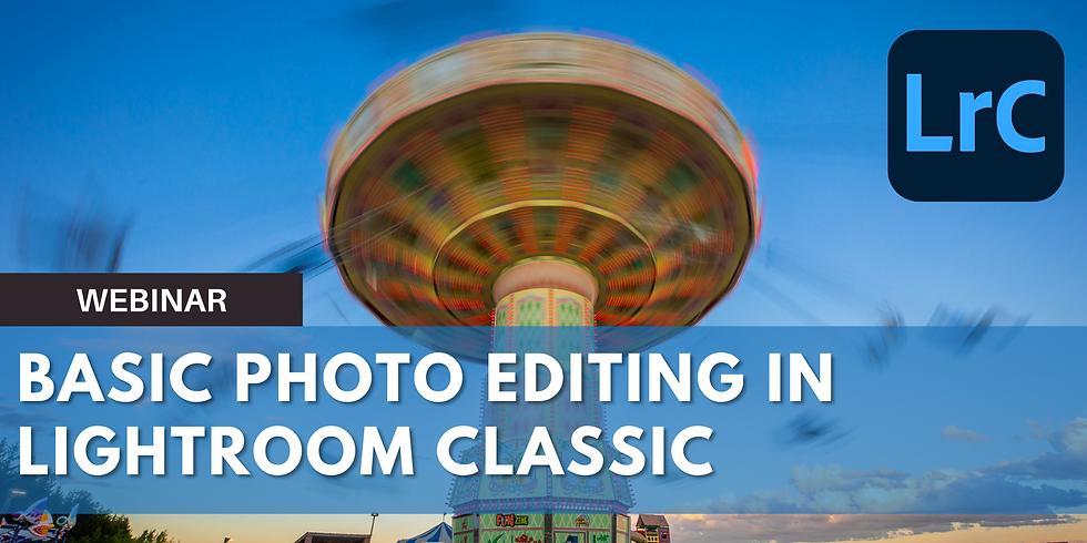 Basic Photo Editing in Lightroom Classic