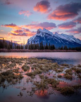 Vermillion Lakes and Mt. Rundle, Banff National Park