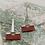 Thumbnail: Silver Red Hinge Earrings