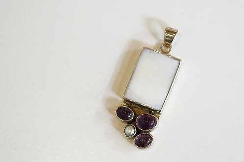Mother Of Pearl, Stone Pendant