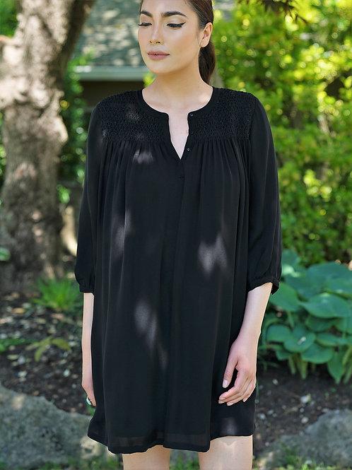 Karetaa - Mott Black Silk Dress