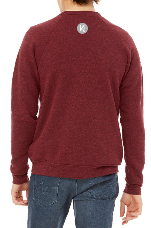 Crew neck raglan sleeves sweatshirt