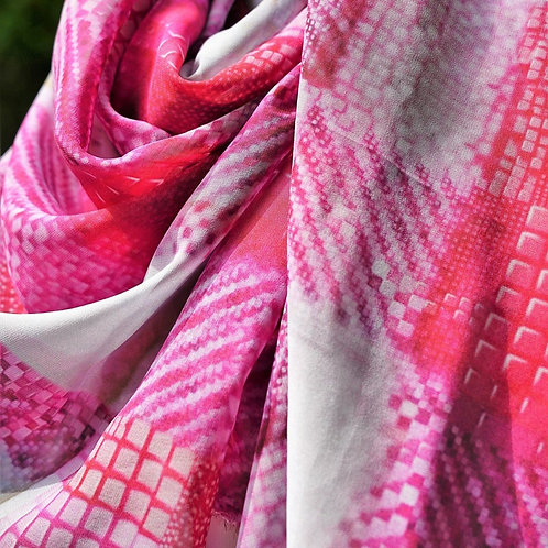 Vibrant Silk printed Scarf