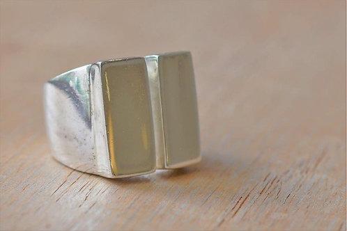 Silver Trendy Broken Ring