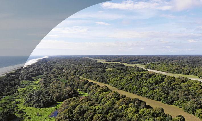 Loango Nationalpark aus der Vogelperspektive