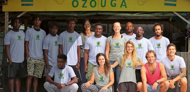Gruppenfoto des Ozouga-Teams 2021.