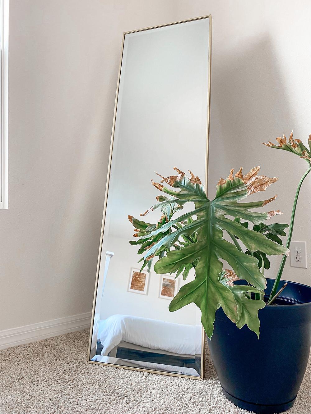 minimalist full length mirror
