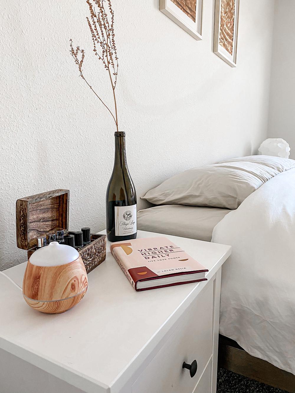 minimalist nightstand table