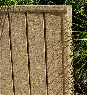 Earth Stone, stone coated steel fencing