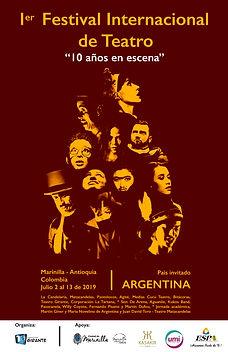 Afiche oficial del I Festival teatro Marinilla