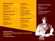 Programación del I festival de teatro Marinilla