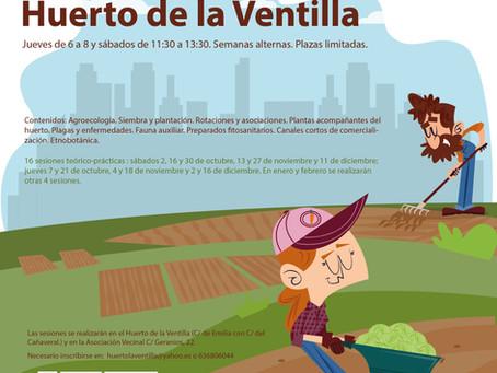 Curso de Agroecología Urbana en el Huerto  de la Ventilla