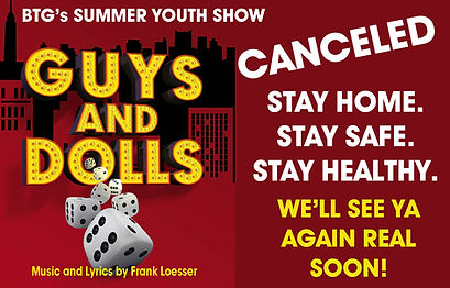 Guys and Dolls audition window CANCELED