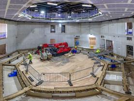 Shakespeare North Playhouse historic auditorium takes shape