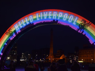 Follow the River of Light Trail on Liverpool waterfront