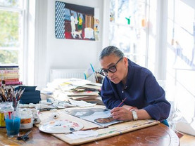 Lubaina Himid unveils new art work at Liverpool Library