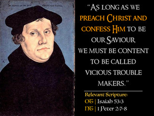 Luther's Quotes #30: On The Offence of the Cross
