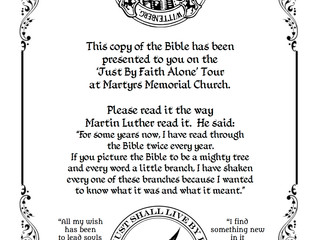 Insert for Reformation Bibles