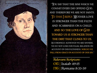 Luther Quotes #19 – God's Unchanging Love