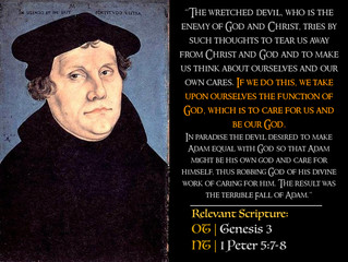 Luther Quotes #22 – God's Care Versus The Devil's Snare
