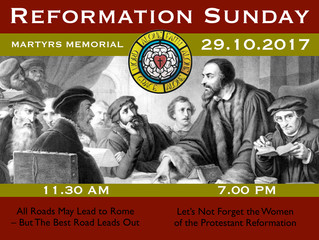 Reformation Sunday @ Martyrs 2017
