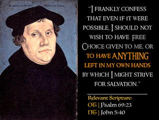 Luther's Quotes #28 – On Bondage of the Will