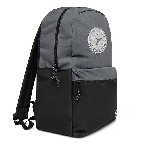 Wildlife Club Embroidered White Logo Champion Backpack