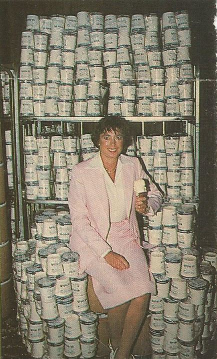 Ann Bassetts with Pints 1981