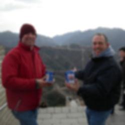 Roger Bassett and Michael Strange in China