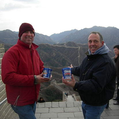 Roger Bassett and Michael Strange in China