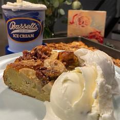 Banana Bourbon Bread Pudding w/ Pecans!
