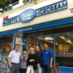 Michael Strange with Bassetts retailers in Souh Korea