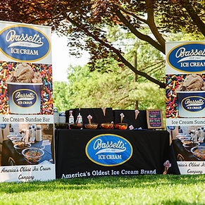 Catering set-up for Bassetts Ice Cream