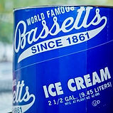 Bassetts ice cream 2.5 gal