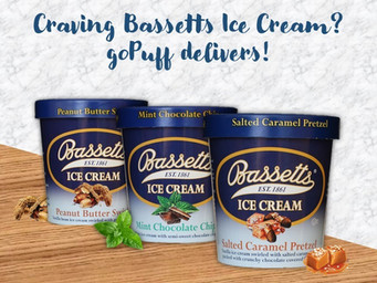 Bassetts Ice Cream now on goPuff!