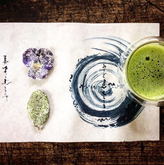 HEAVENLY企画 薬草魔女くーみんのワークショップ 藍墨の精麻の筆で波動上昇アイテムを作る!