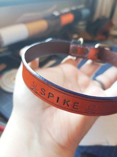 Custom Stamped Leather Dog Collar - Large (50cm-59cm)