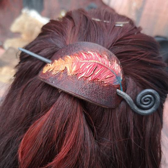 Phoenix feather hairpin