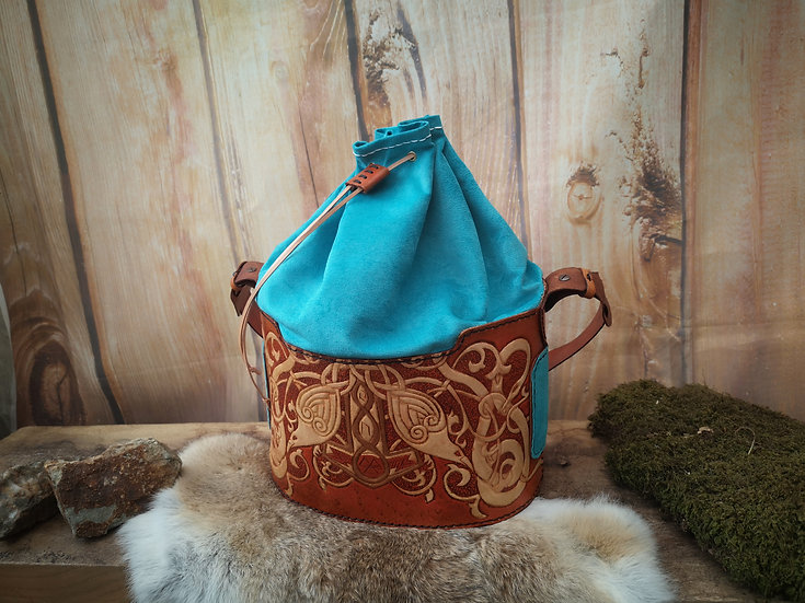 Norse Raven Bucket Bag (one of a kind)